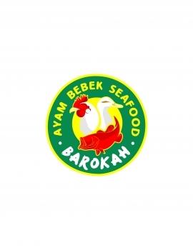 Logo Ayam Bebek Seafood Barokah